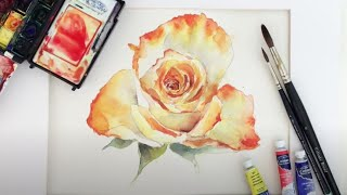 Useful Tips On Painting A Rose In Watercolour Using only 3 Colours