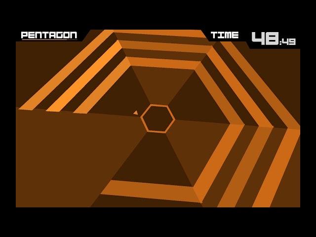 Super Hexagon #1 - прошёл первый уровень