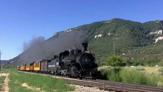 Durango The Silverton Train 2011 Colorado with choo choo horn, railroad tracks sound