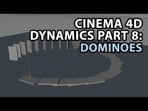 Cinema 4D Dynamics PART 8: Toppling Dominoes