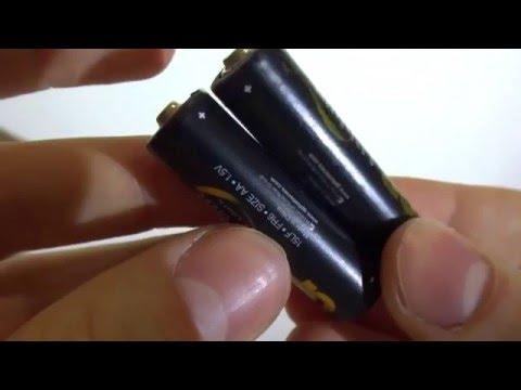 Измерение напряжения на новых литиевых батарейках АА GP lithium