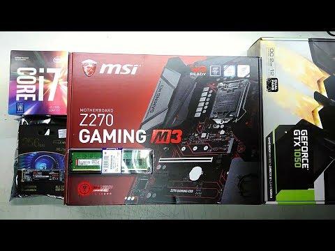 Intel Core I7 7700 Msi Z270 GAMING M3 GEFORCE GTX 1050 2018 GAMING PC
