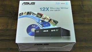 ASUS Black Internal Blu-ray SATA Burner BW-12B1ST/BLK/G/AS Unboxing