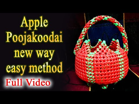 Poojakoodai | apple | new way | easy method - Full Video