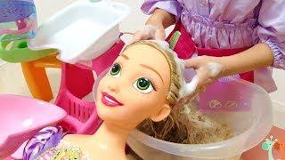 ラプンツェル人形 シャンプー 美容室ごっこ ディズニープリンセス / Rapunzel Doll Hair Wash! Hair Beauty Salon