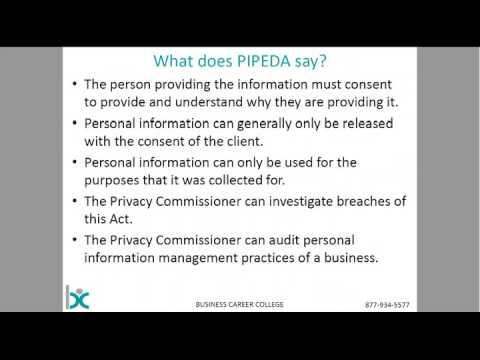 Privacy Legislation In Canada