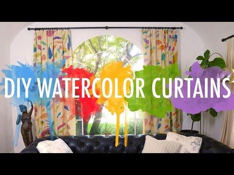 DIY Watercolor Curtains | Mr Kate