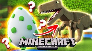 HOW TO SPAWN A T-REX IN POCKET EDITION MINECRAFT!