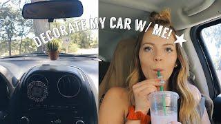 CLEAN & DECORATE MY CAR W/ ME!!!