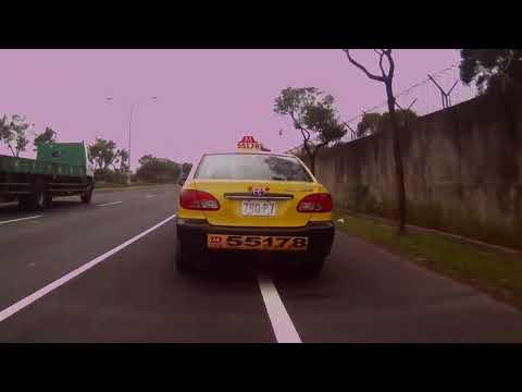 【違規片】780-P7 大都會計程車 - 佔用機慢車優先道等