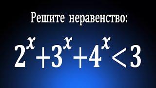 Решите неравенство 2^x+3^x+4^x≤3 ★ Задача от подписчика ★ Как решать такие неравенства?