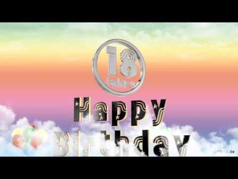 ☆♪ Geburtstagslied ☆♪ 18 Jahre Happy Birthday to you lustiges Geburtstags Video