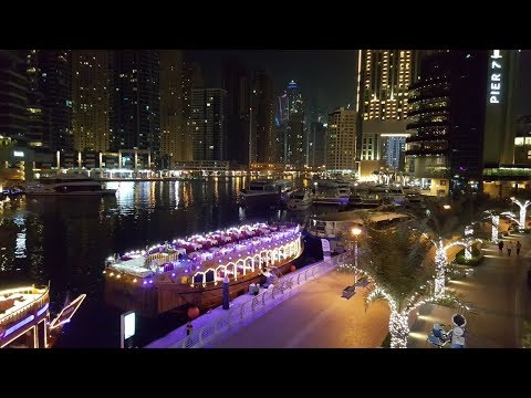 Dhow Boat Dubai Marina Experience - unedited, overview, what to expect, do it for free!