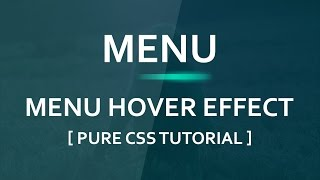 Cool Menu Hover Effect Tutorial - Html5 Css3 Hover Effect - Plz SUBSCRIBE Us For Daily Videos
