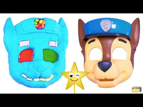 Making PAW PATROL CHASE w/ Kinetic Sand, PEZ, Slime, Mask, Surprise Toy Games - LEARN COLORS