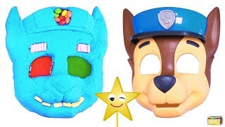 Making Pups CHASE w Kinetic Sand, PEZ, Slime, Mask, Surprise Toy Games - LEARN COLORS