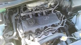 Работа двигателя Huyndai Getz 1.3 после замены масла Kixx 5w/40