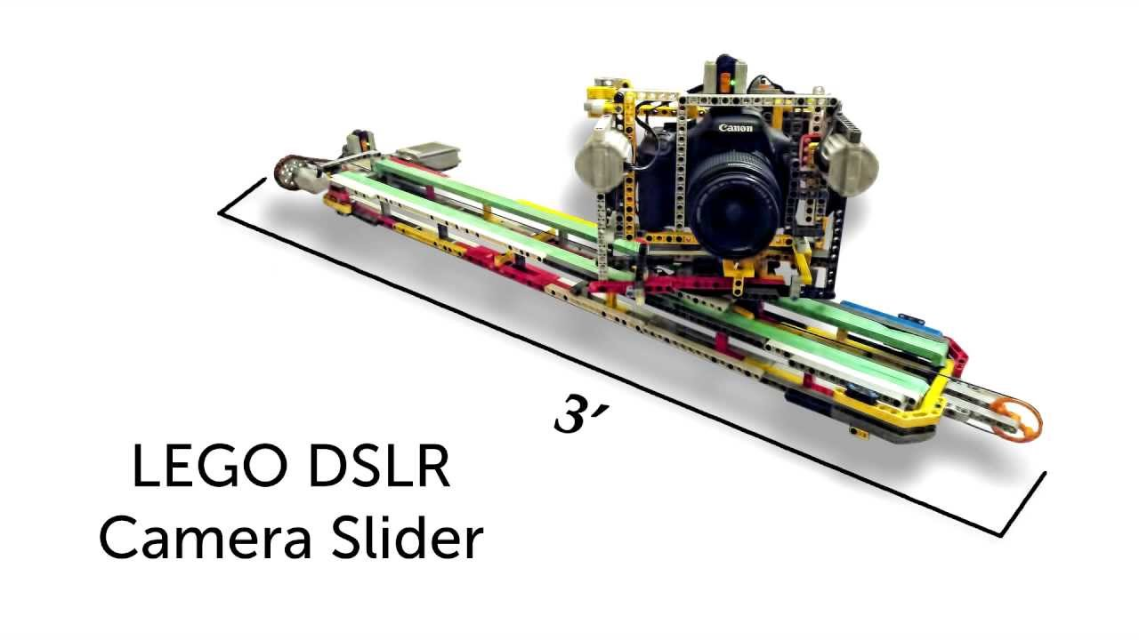 Motorized lego dslr camera slider youtube Motorized video slider