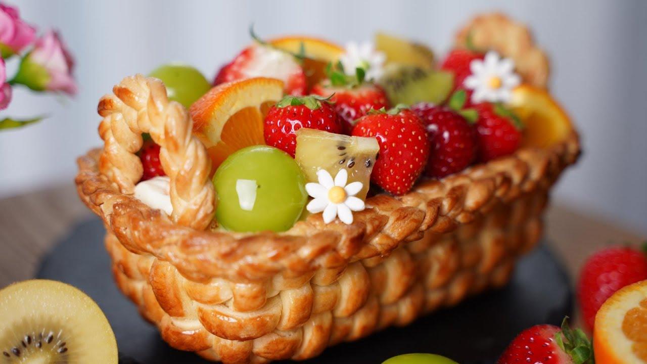 이번 추석선물은 과일 바구니 어떠세요?  Amazing Fruit Tart Recipe l Vanilla Crème Légère l  Fruit Compote