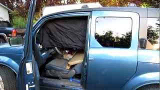 Honda Element Privacy Curtain - Exterior - First impression - Part 2