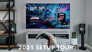 My Gaming TV Setup Tour 2021 | LG CX + PS5