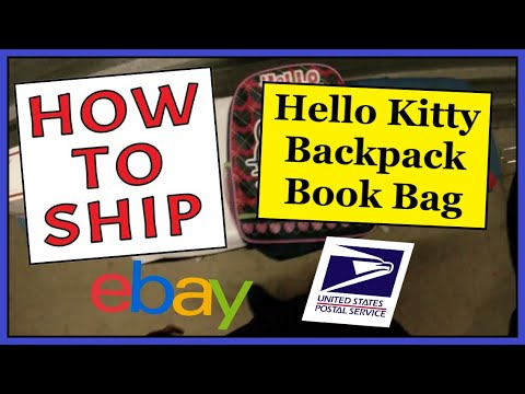How To Ship a Hello Kitty Backpack Book...