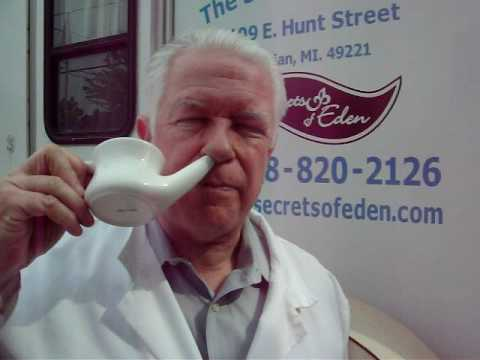 Problems with Neti pot.  Plugged sinus