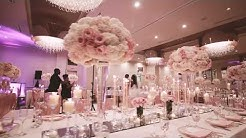 Elegant Blush, Ivory & Gold Wedding Reception