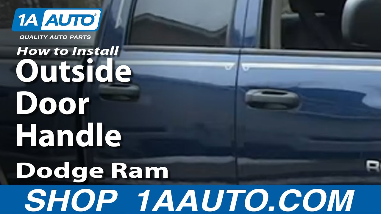 How To Install Repair Replace Rear Outside Door Handle
