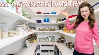 My Kitchen Pantry Tour! PANTRY ORGANIZATION IDEAS