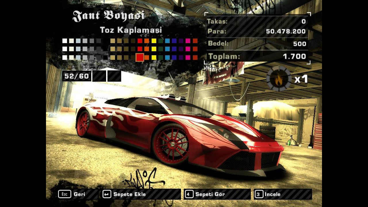 Need for Speed Most Wanted 2005 Lamborghini Murcielago Modifiye