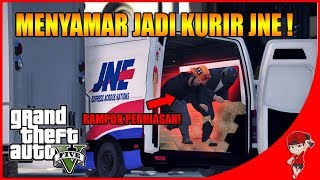 GTA V MISI STORY (4) - PERAMPOK MENYAMAR JADI KURIR JNE wkwkwk