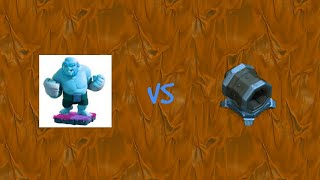 Level 1 boxer giant to level 16 vs max level giant cannon clash of clans