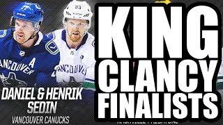 The Sedin Twins Are King Clancy Finalists! - Henrik & Daniel Sedin, P.K. Subban, Jason Zucker NHL