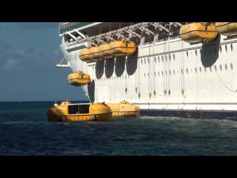 Independence of the Seas: 2012 Transatlantic Lifeboat Testin