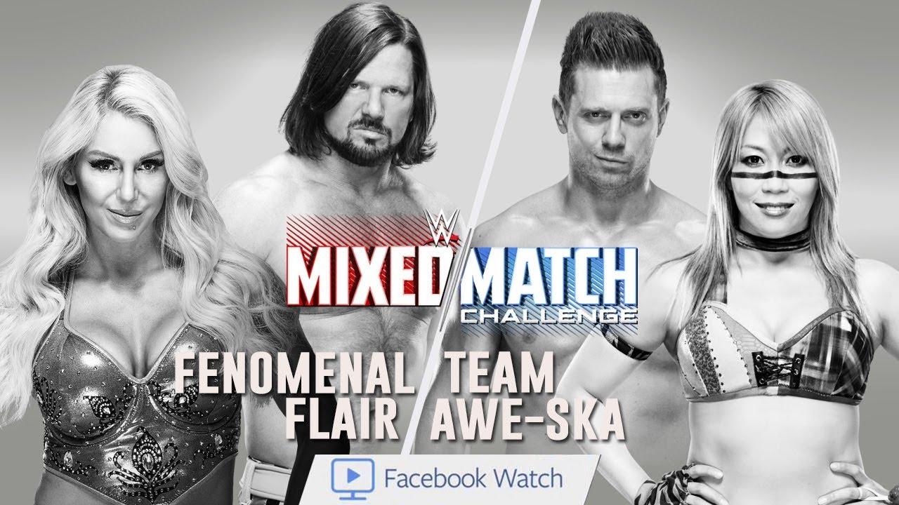 Download WWE Mixed Match Challenge: AJ Styles & Charlotte Flair Vs Asuka & The Miz [SIMULATION] #WWE #MMC