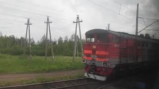 Прибуття на станцію Обозерская під час ремонту шляхів