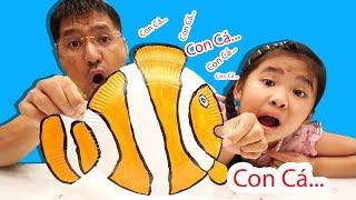 Bé Bún Tự Làm Con Cá Nemo Từ Cái Đĩa | DIY How To Make Nemo Fish From Dish Paper