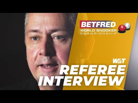 Paul Collier Set To Referee Third Crucible Final | Betfred World Championship 2021