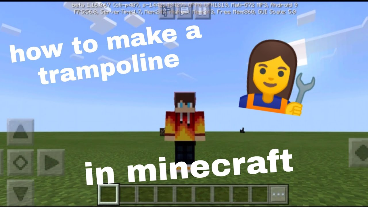 How to make a trampoline in Minecraft - YouTube