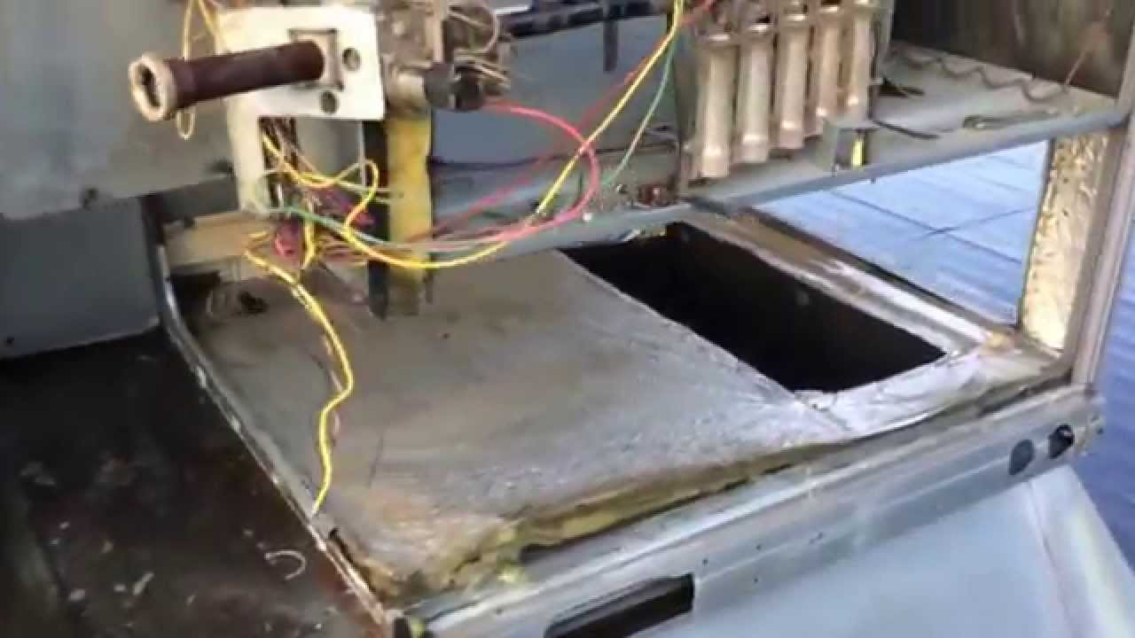 Heat Exchanger Changeout On Carrier Rtu Youtube