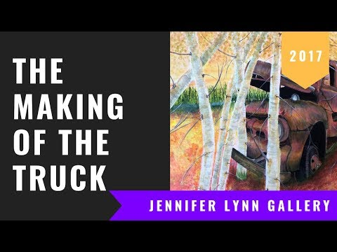 Jennifer Lynn Artist – The Making of the Truck – Acrylic on Canvas Painting