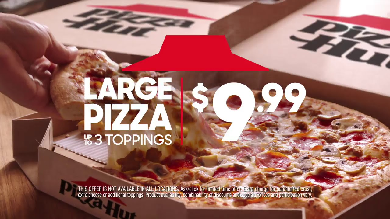 We've Got You Covered with $9.99 LARGE 3-Topping Pizzas