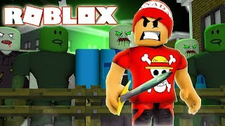 STRUGGLED against ZOMBIES to GET STRONGER in ROBLOX → Zombie Research Simulator 🎮