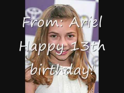 Happy 13th birthday Emily!