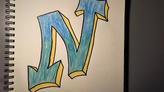 """How to Draw a Graffiti Style """"N"""""""