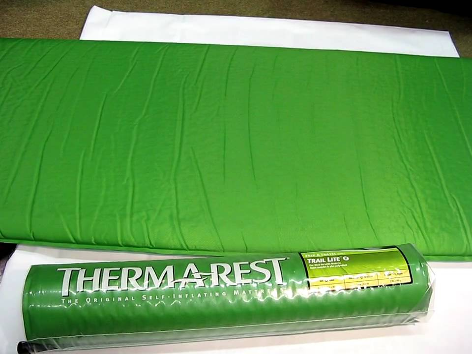 thermarest trail lite sleeping pad review youtube. Black Bedroom Furniture Sets. Home Design Ideas