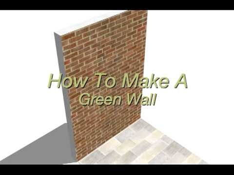 How To Make A Living Wall making a green wall sketches - youtube