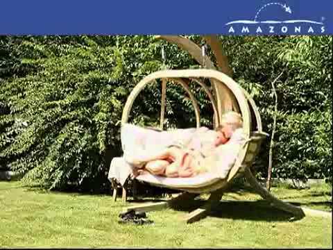 fauteuil suspendu globo royal d 39 amazonas chez almateon youtube. Black Bedroom Furniture Sets. Home Design Ideas