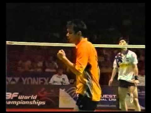 Badminton - WC 2003 Men's Single Final Xia Xuanze  - Wong Choong Hann